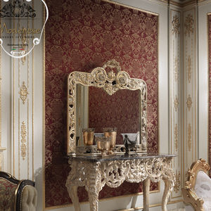 wall-mounted mirror / New Baroque design / rectangular / for hotel