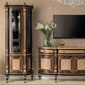 classic china cabinet / solid wood / glass / for hotel
