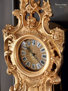 traditional clocks / pendulum / solid wood / golden