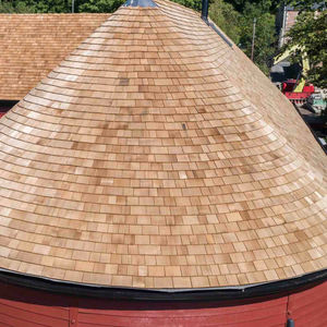 wood shingle / high-resistance / for roofs / for facade cladding