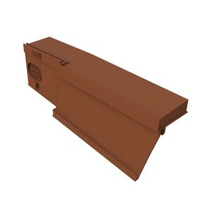 edge roof tile / thermoplastic resin / brown / gray
