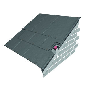 edge roof tile / fiber cement / gray / slate look