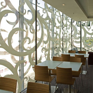 laminated glass panel / float / patterned / for interior