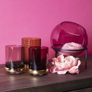contemporary vase / glass / lacquered steel