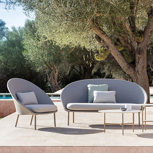 contemporary sofa / garden / fabric / 2-person