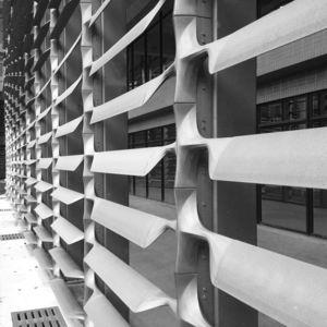 fiberglass solar shading / polycarbonate / for facade