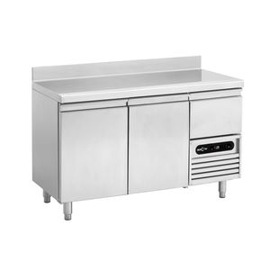 stainless steel prep table / refrigerated / height-adjustable