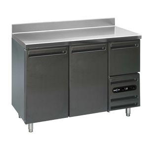 refrigerated prep table / with storage compartment / height-adjustable / commercial