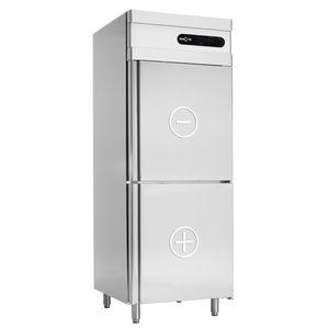 bottom freezer refrigerator-freezer / commercial / upright / stainless steel