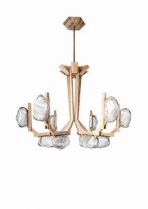 original design chandelier / glass / wooden / LED