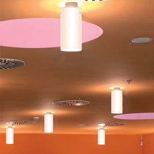 contemporary ceiling light / tubular / PMMA / painted steel