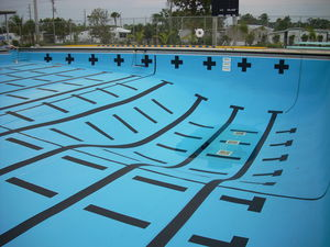 PVC swimming pool liner / for public pools / for above-ground pools / for in-ground swimming pools