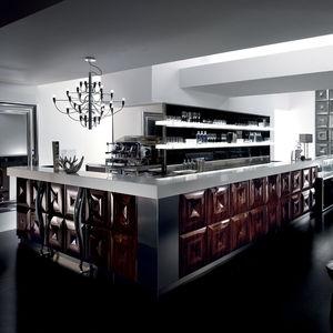 bar counter / glass / polyurethane / upright