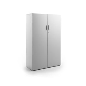 tall filing cabinet / wood veneer / with hinged door / contemporary
