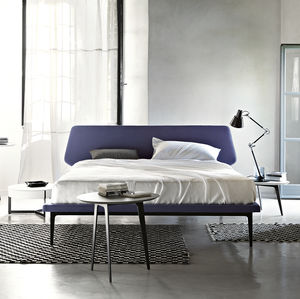 double bed / contemporary / upholstered / with upholstered headboard