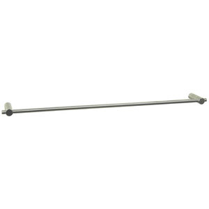 1-bar towel rack / wall-mounted / stainless steel