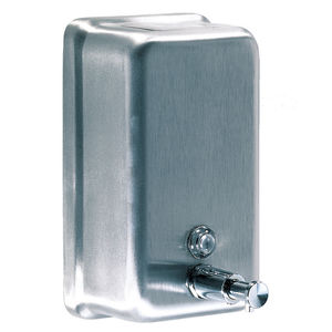 commercial soap dispenser / wall-mounted / ABS / stainless steel