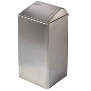 public trash can / stainless steel / contemporary / swing