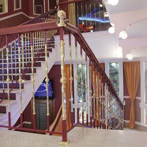 steel railing / wrought iron / brass / wooden