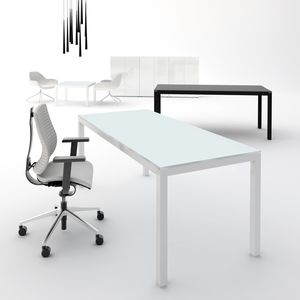 executive desk / aluminum / glass / contemporary