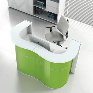 modular reception desk / semicircular / corner / laminate