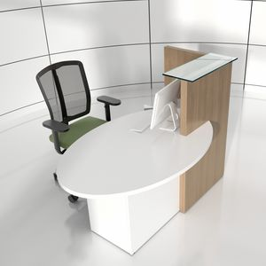 semicircular reception desk / laminate