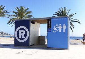 toilet kiosk / metal