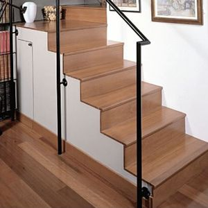 solid wood step covering