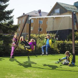 wooden swing / steel / playground