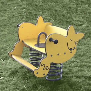 solid wood spring rocker / animals / 2-person