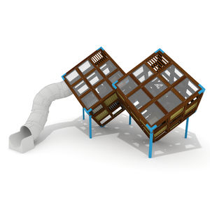 playground play structure / for public buildings / wooden / HPL