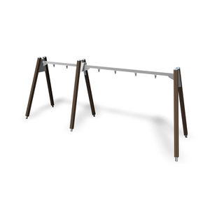 wooden swing / steel / playground / multi-person
