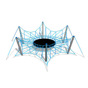 climbing structure with trampoline / for playgrounds