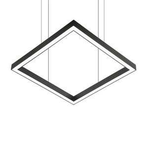 hanging light fixture / surface mounted / LED / square