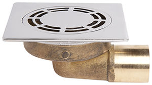 brass floor drain / square / round