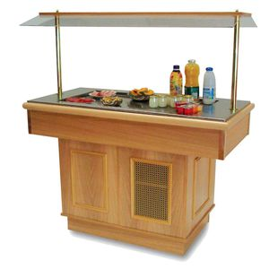 central refrigerated buffet / wheel / for restaurants