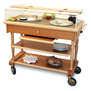 garden trolley / commercial / refrigerated / wooden