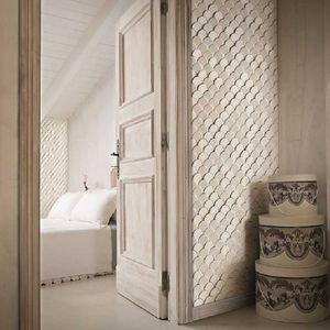 indoor mosaic tiles / wall / ceramic / hexagonal
