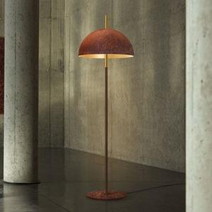 floor-standing lamp / contemporary / steel / Goldflex®