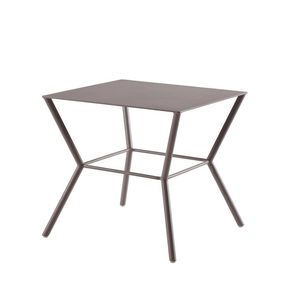 contemporary side table / lacquered aluminum / lacquered aluminum base / square