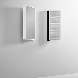 wall-mounted mirror / with storage compartment / swivel / contemporary
