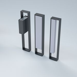 pedestal ashtray / metal / outdoor / for public spaces