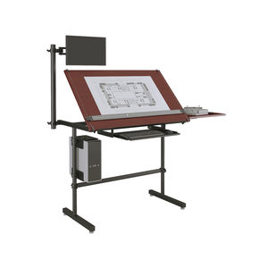 wooden drafting table / laminate / rectangular / commercial