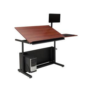 laminate drafting table / rectangular / commercial / modular