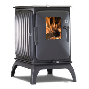 wood heating stove / cast iron / contemporary