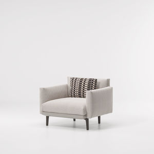 contemporary armchair / fabric / steel / aluminum