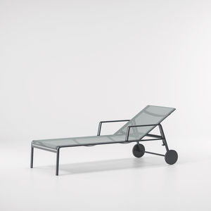 contemporary sun lounger / fabric / aluminum / garden