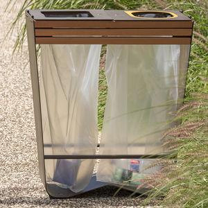 public trash bag holder