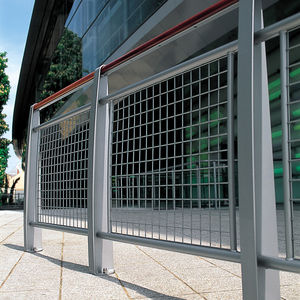 protective barrier / fixed / steel / stainless steel