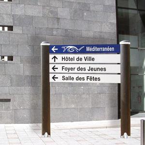 floor-mounted signboard / aluminum / orientation